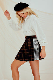 Aaliyah Checked Mini Skirt