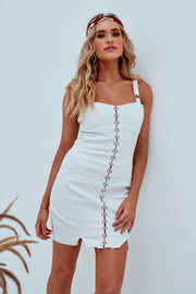 Abigail Mini Dress In White