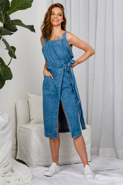 Amber Woods Denim Midi Dress - The Half Clothing