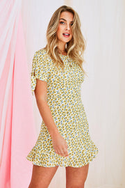 Bethany Yellow Floral Dress