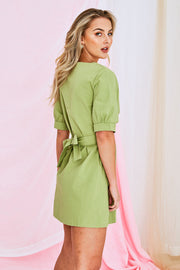 Blaire Dress In Pestal Green