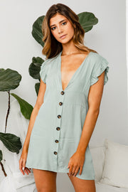 Blossom Button Up Dress - The Half Clothing