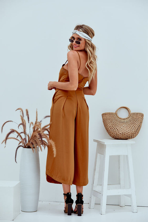 CarmenJen Summer Playsuit Caramel