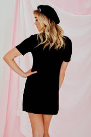 Charlotte Knitted Mini Dress In Black