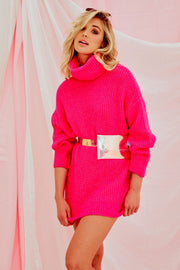 Christina Knit Jumper - Neon Pink