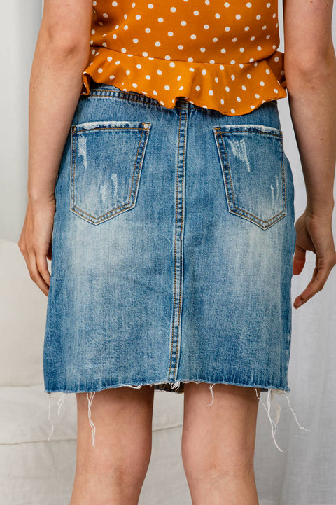 Dream Big Denim Skirt - The Half Clothing