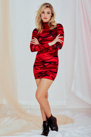 Elissa K Long Sleeve Mini Dress