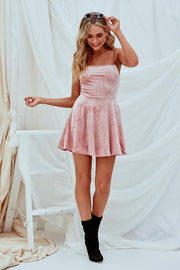 Ella Dress In Pink Velvet