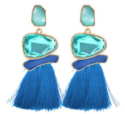 Flintstone Earrings Blue - The Half Clothing