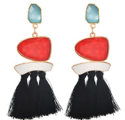 Flintstone Earrings Red - The Half Clothing