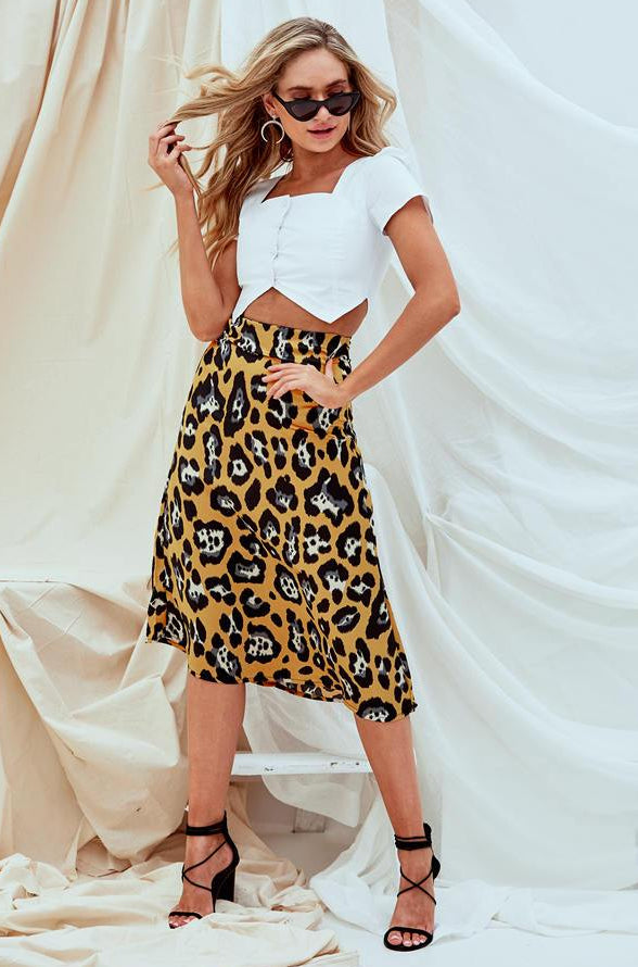 Frances Silky Midi Skirt