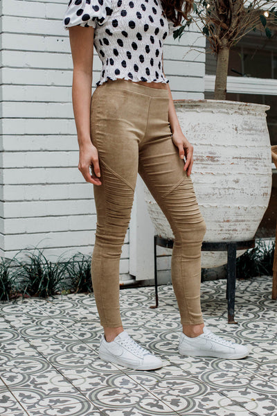 Gabriel leggings In Camel - The Half Clothing