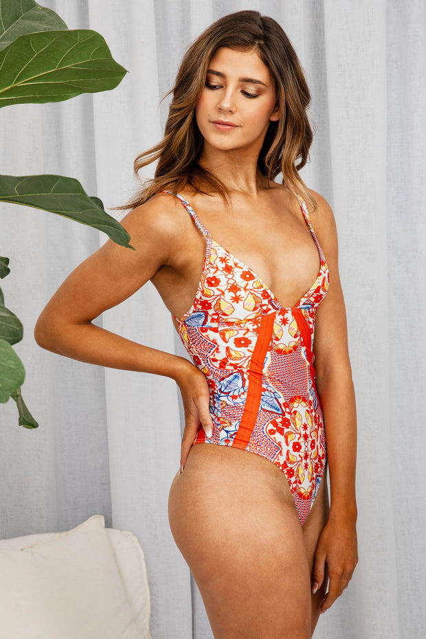 Hamilton One Piece In Pink Floral - The Half Clothing