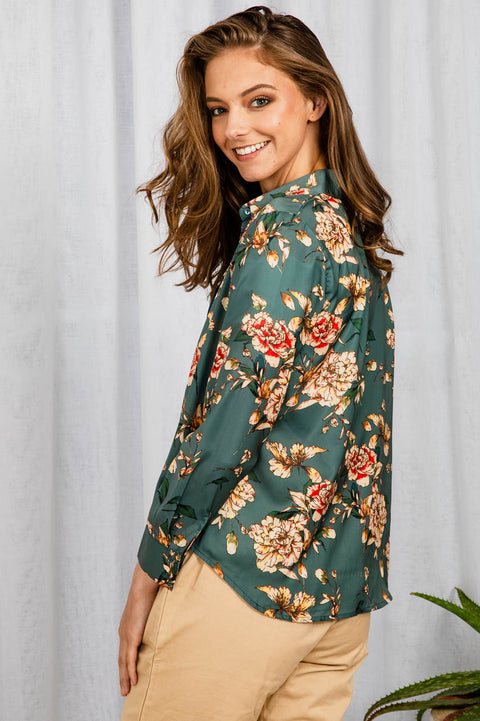 Hanna Floral Top - The Half Clothing