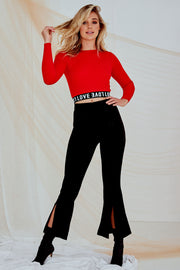 Heartland Cropped Top Red