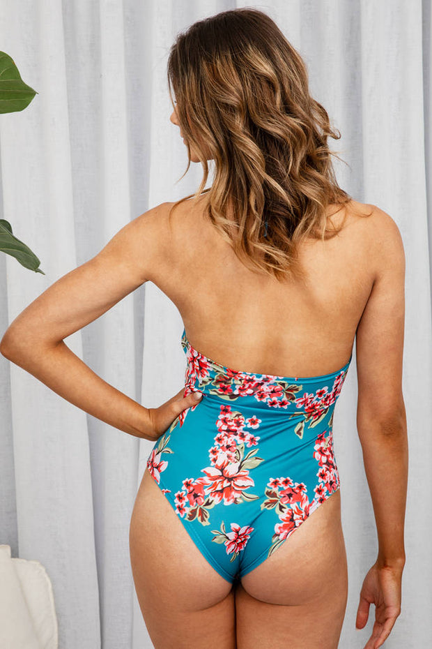 Hellshire One Piece In Tropical Floral - The Half Clothing