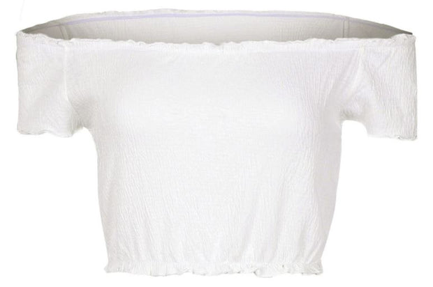 Hesper Off The Shoulder Top In White - The Half Clothing