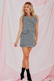Jerome Sleeveless Tweed Suit Dress