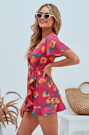 Jessica Mo Floral Pink Playsuit