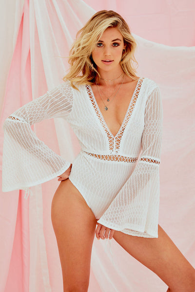 Jon Grace Bodysuit In White