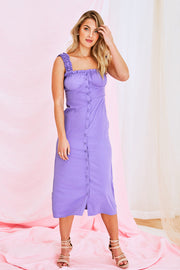 Josephine Midi Dress In Purple