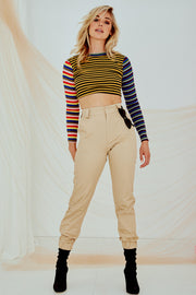 Kendall Crop Stripe Knitted Tee