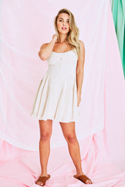 Kiara White Flowy Mini Dress