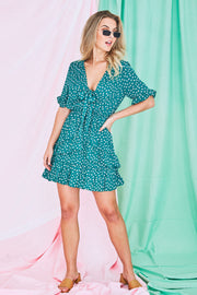 Kimmie Mini Dress In Green