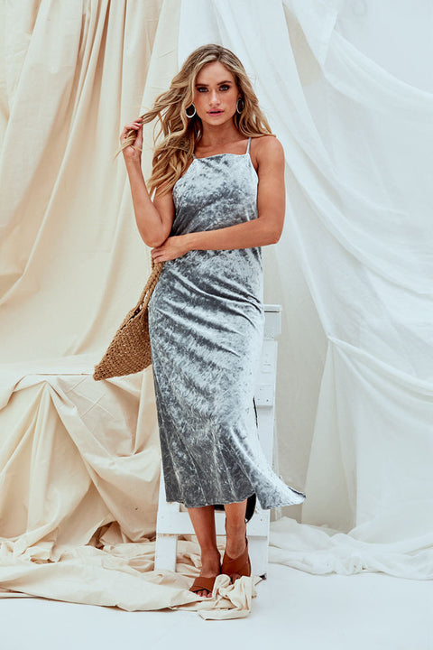 Lizzie Metallic Midi Dress