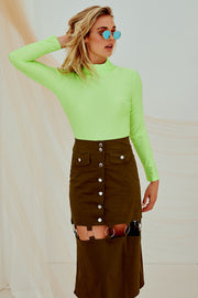 Maisie Midi Skirt Green