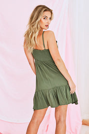 Paige Cami Dress Avocado Green