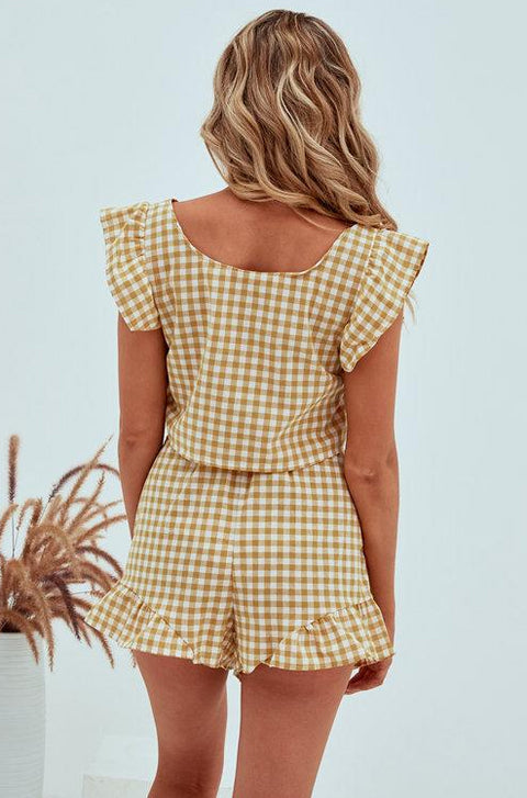Rowena Checked Two Piece Set