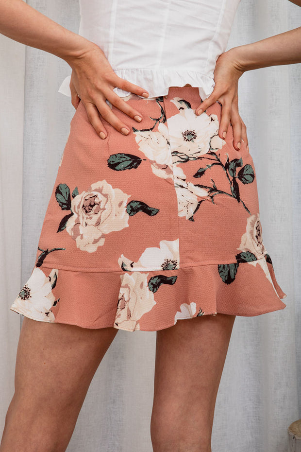 Serein Floral Skirt - The Half Clothing