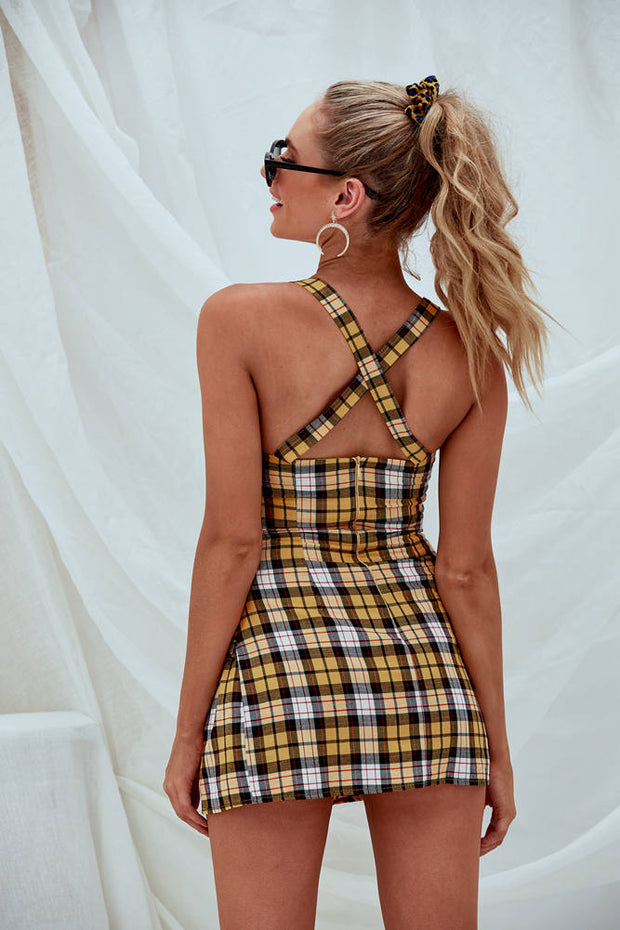 Sienna Checked Mini Dress
