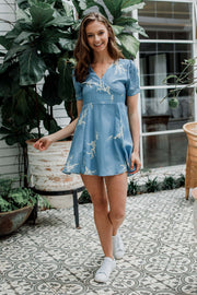 Something Blue Mini Dress - The Half Clothing