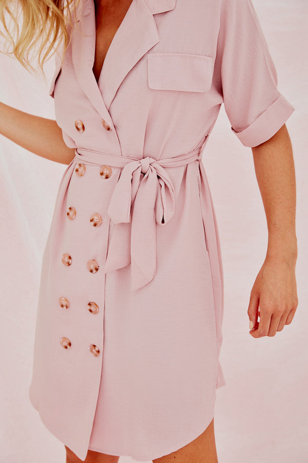 The Pink Sling Trench Dress