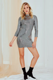 Varya Sequin Mini Dress - Long Sleeve