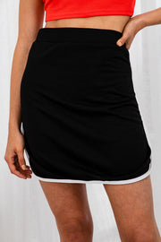Vertigo Short Skirt In Black - The Half Clothing