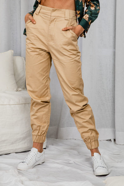 Williamsburg Camel Cargo Pants - The Half Clothing