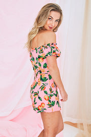 Willow Floral Playsuit In Pink