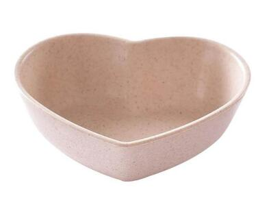 Heart Shaped Wheat/Straw Little Bowl - Kitty's Beans Coffee, Tea & Kitchen