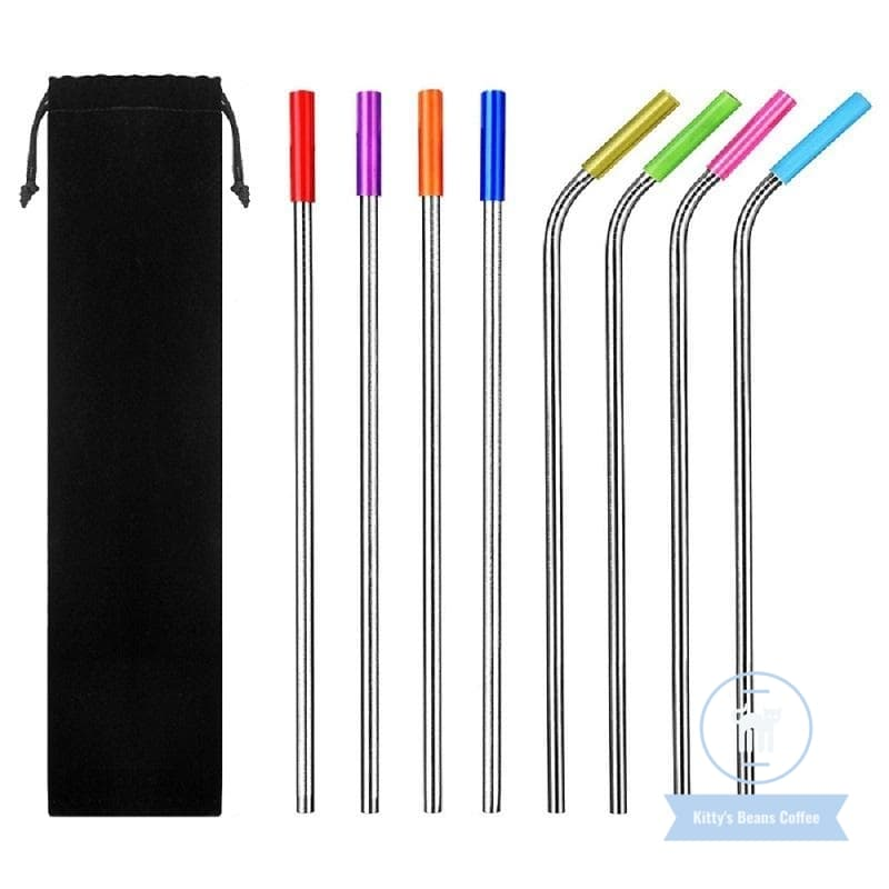 Reusable Stainless Steel Drinking Straws 19 Pcs Set