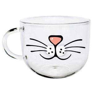 Glass Kitty Nose Coffee Cup - Kitty's Beans Coffee, Tea & Kitchen