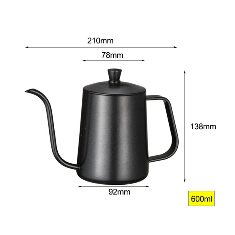 600ml Stainless Steel Gooseneck Kettle - Kitty's Beans Coffee, Tea & Kitchen