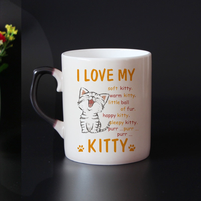 """I Love My Kitty"" Color Changing Magic Mug - Kitty's Beans Coffee, Tea & Kitchen"
