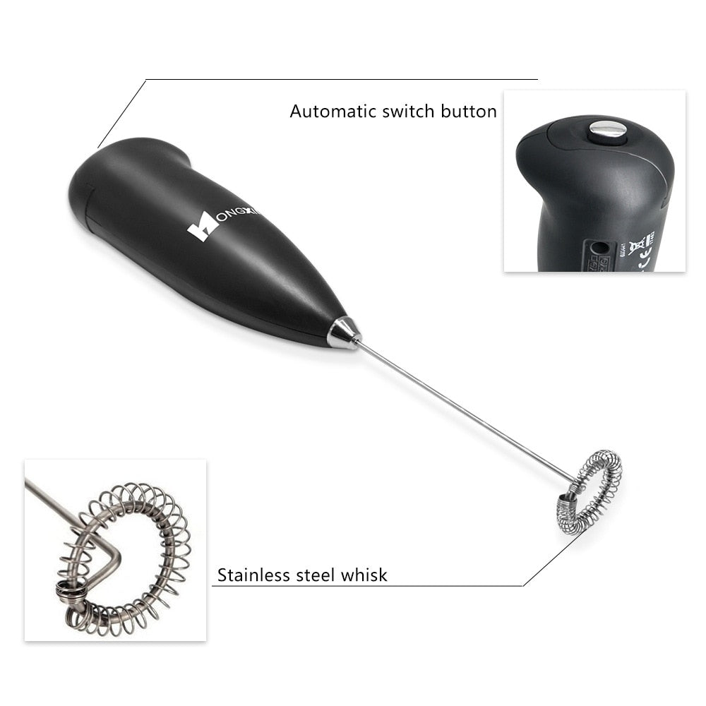 Mini Electric Milk Frother - Kitty's Beans Coffee, Tea & Kitchen