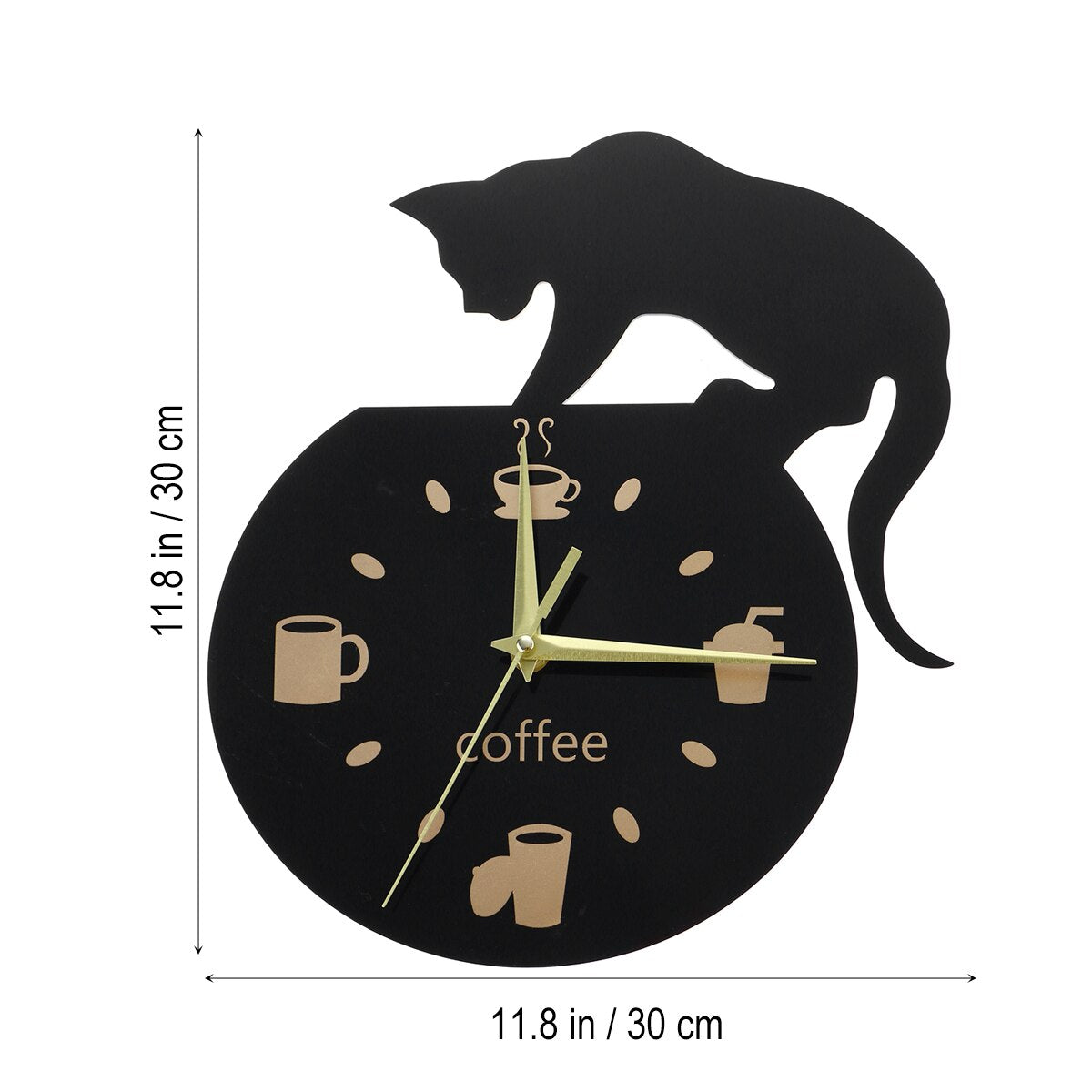 """Time for Kitty's Beans Coffee"" Wall Clock - Kitty's Beans Coffee, Tea & Kitchen"
