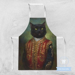 Sir Kitty Cat Cooking Apron - Kitty's Beans Coffee, Tea & Kitchen