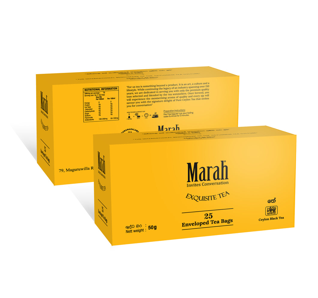 Marah Pure Ceylon Black Tea 2g x 25 Enveloped Tea Bags