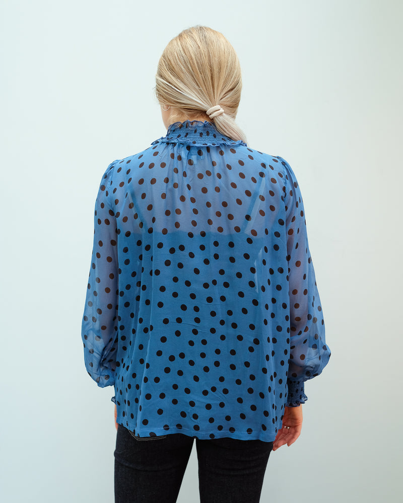Tracy Top in Dotty Blue